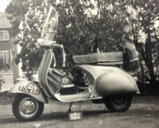 Gillians Clubman in the garden at Stratford Road