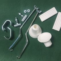Front rack fixing kit CUPPINI white rubbers