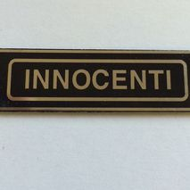 lambretta INNOCENTI seat badge
