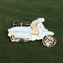 Lambretta GP cut out enamel lapel pin badge pale blue