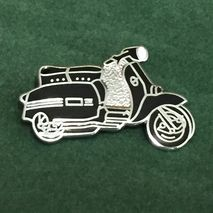Lambretta GP cut out enamel lapel pin badge Black