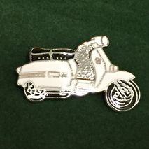 Lambretta GP cut out enamel lapel pin badge White