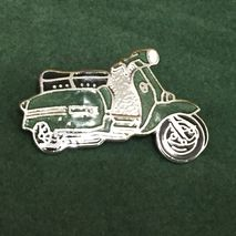 Lambretta GP cut out enamel lapel pin badge Green