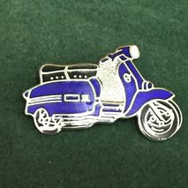 Lambretta GP cut out enamel lapel pin badge royal blue
