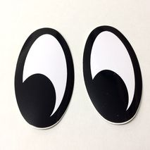 Moon eyes (looking right) self adhesive decals