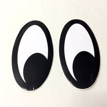Moon eyes (looking left) self adhesive decals