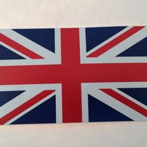 Union Jack adhesive sticker 11 x 6 cm