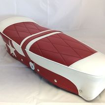 Lambretta accessory seat red / white